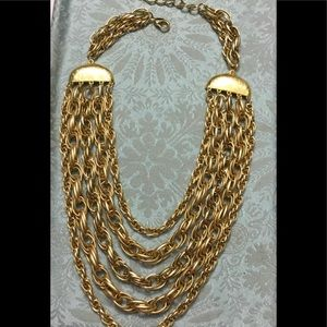 Vintage Layered Statement Necklace